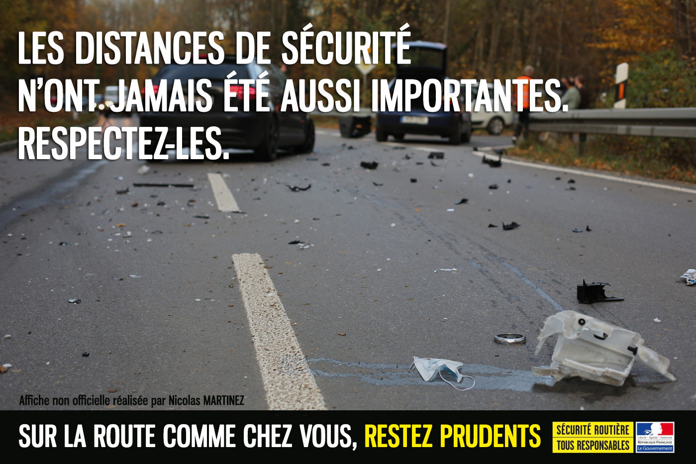 affiche securite routiere covid prevention distance